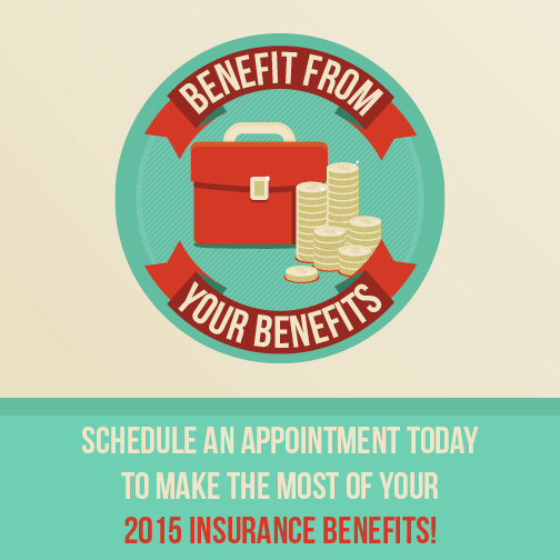 Don't forget to use your dental benefits!