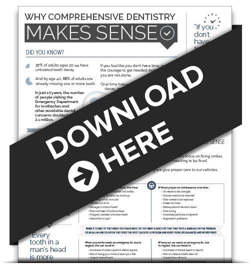Comprehensive dentistry infographic preview.